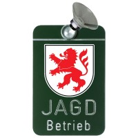 Autoschild - Jagdbetrieb HESSEN