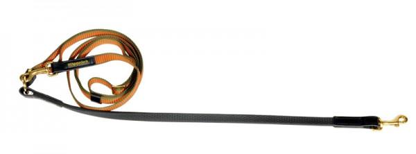Umhängeleine 2m - 3,20m lang Grip 20mm - Orange/Oliv