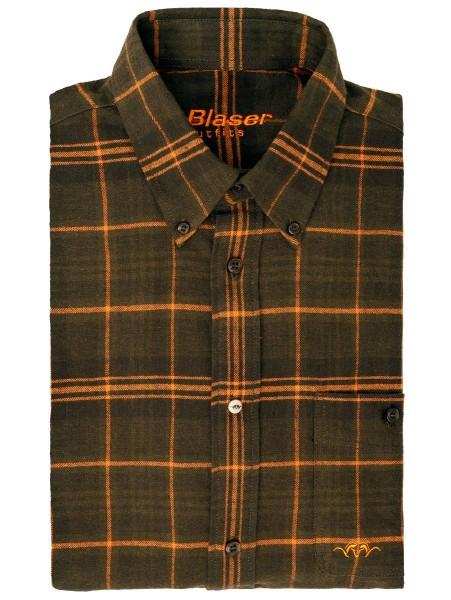 Blaser Hemd Flanell Juri Oliv/Burned Orange - Das robuste und warme Flanell-Hemd Juri von Blaser