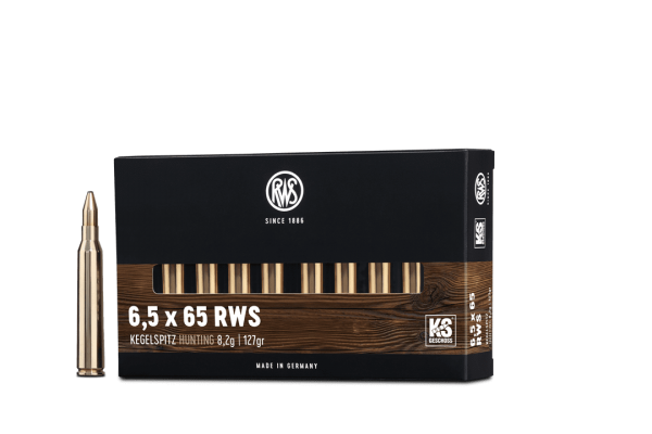 6,5x65 RWS Kegelspitz 8,2g - 127gr.