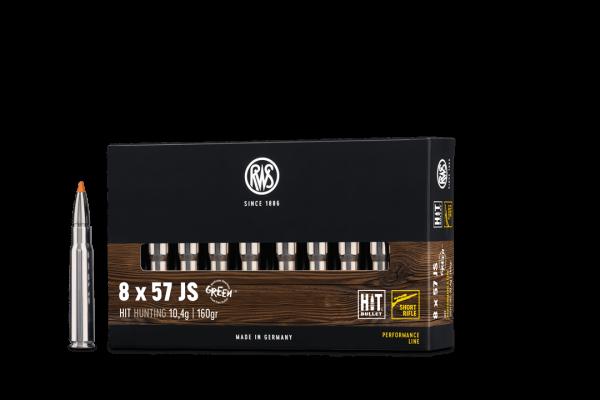 8x57JS HIT 10,4g - 160gr. Short Rifle