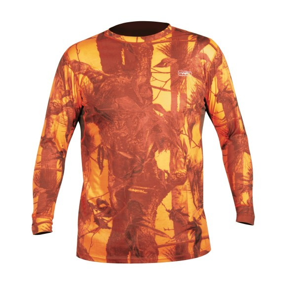 Hart T-Shirt-Crew-L Camo, Orange