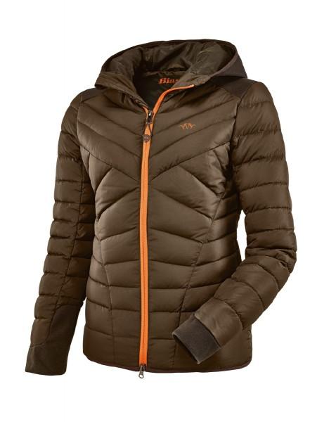 Blaser Damen Daunenjacke mit exklusiver Steppung und Details in Blaze Orange