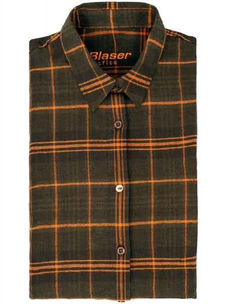 Blaser Flanellbluse Jurika olive burned-orange - Die angenehm warme Flanell-Bluse Jurika von Blaser