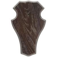 Gehörnbrett 19x12cm Dunkel - Rund