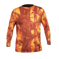 Hart T-Shirt-Crew-L Camo, Orange