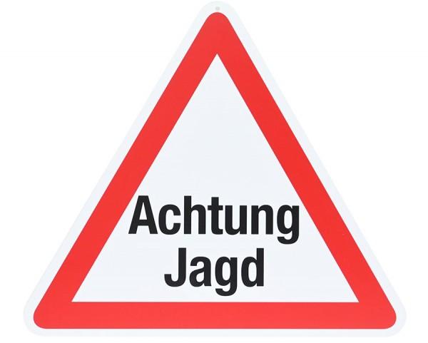 Warnschild Text: ACHTUNG JAGD!