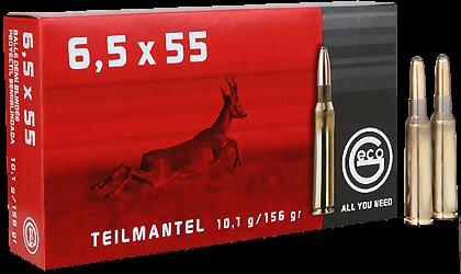 6,5x55Schwed Teilmantel 10,1g - 156grs.