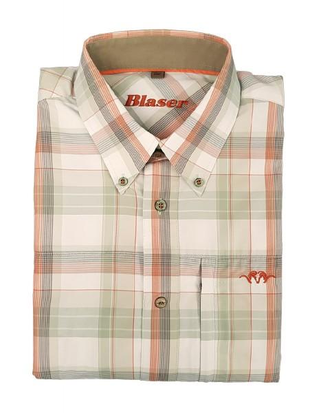 Blaser Blaser Hemd Komfort Modern Rainer Grün-orange kariert - Das karierte Langarmhemd Komfort Modern Rainer von Blaser ist klassisch geschnitten