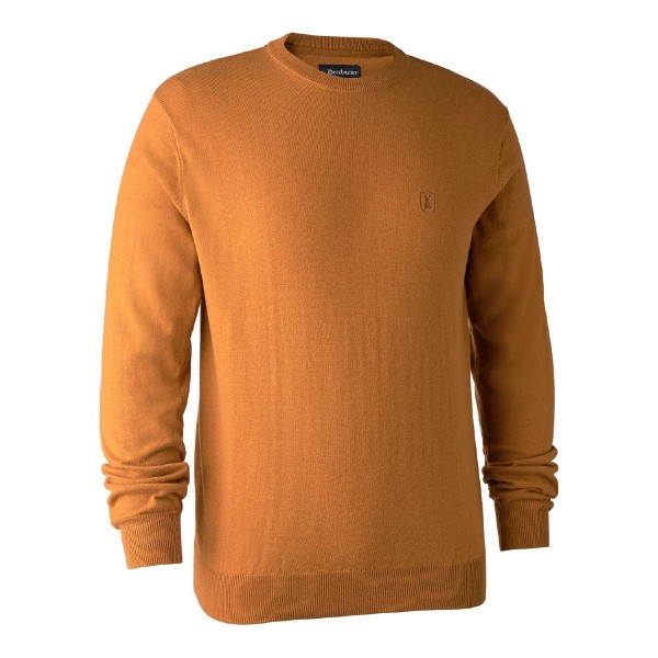 Pullover Kingston m. O-hals Golden Oak