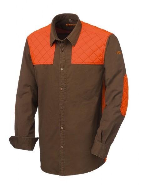 Blaser Hemd Twill Modern Cognac - Das Langarmhemd Twill Modern von Blaser überzeugt durch seinen auffälligen Workwear-Stil.