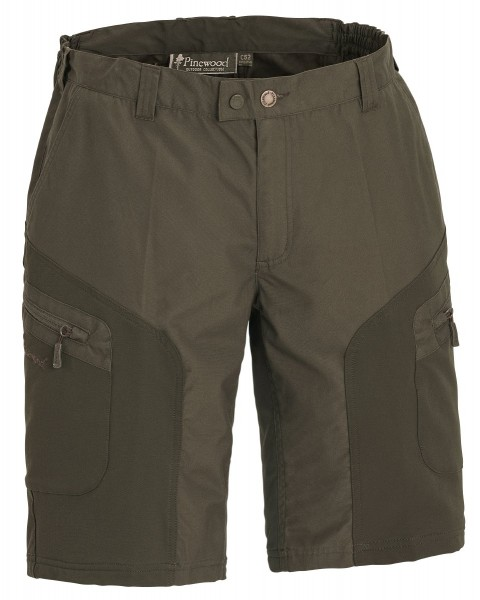 Pinewood Shorts Wildmark Stretch Darkoliv/Mossgreen