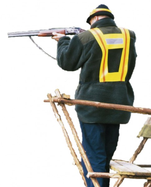 Schutztrapez 105cm/rot/silber
