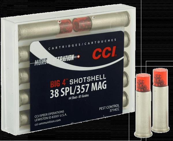 .38Special Shotshell 6,5g - 100gr. Für Kaliber .357 geeignet.