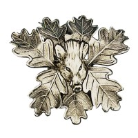 Keilerwaffen - Deckblatt Alpaka versilbert Doppelabdeckung - Keilerkopf