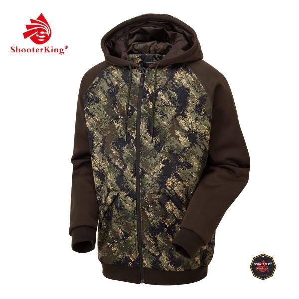 Shooter King Hoodie Huntflex Forest Mist Digital Camou-Braun