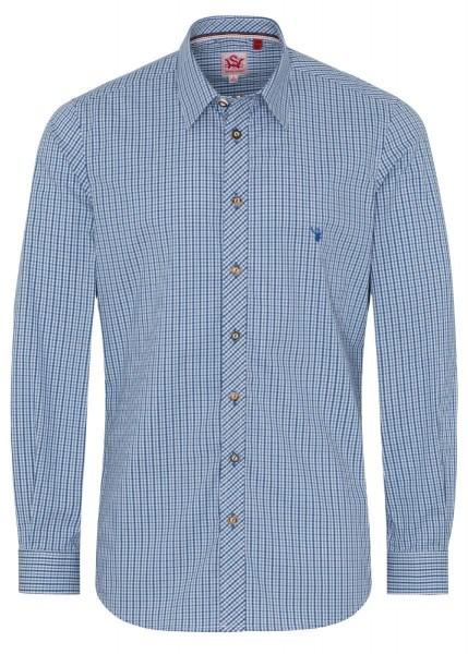 Spieth &Wensky Hemd Norman Langarm, Blau