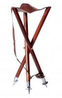 Dreibein-Ansitzstuhl mit Tellern Sitzhöhe 70cm