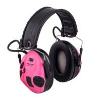 Gehörschutz Sport Tac grün - Wechselschale pink Analog