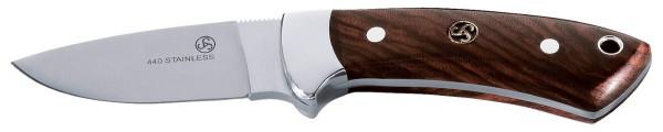 Sauer Jagdmesser Corto Satin mit Lederscheide Holzgriffschalen