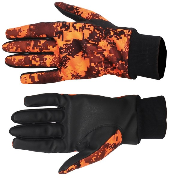 Somlys Softshell Handschuhe Pixel orange