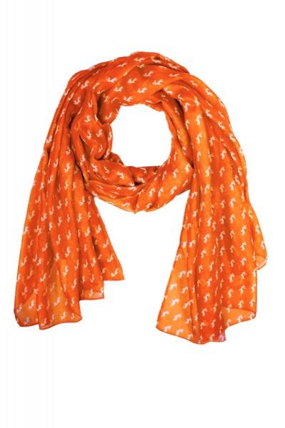 Tuch mit Hirschmotiv Orange