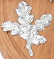 Eichenblatt Aluminium silberfarbend