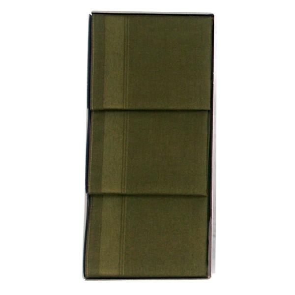 Taschentücher 3er-Set Uni-grün
