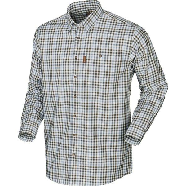 Härkila Hemd Milford Heritage blue check - Das sportliche, karierte Langarmhemd Milford von Härkila ist aus Baumwolle und regular geschnitten.