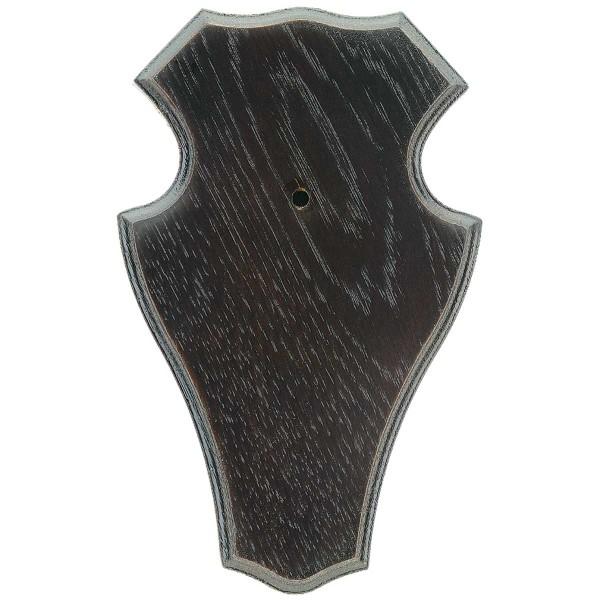 Gehörnbrett 22x13cm Dunkel - Rund