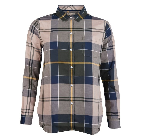 Barbour Bluse Homeswood Olive Check - Die klassische, feminine Bluse Homeswood von Barbour