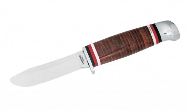 Jagdmesser Aisi Klingenlänge 8cm - Kindermesser Ledergriff