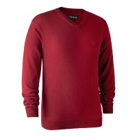 Deerhunter Pullover Kingston m. V-hals Red