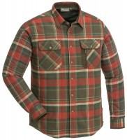 Pinewood Hemd Cornwall D.Copper/Suede Brown - Das robuste und warme Flanellhemd Cornwall von Pinewood ist regular geschnitten und dank des atmungsaktiven...