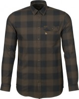 Seeland Hemd Highseat Hunter brown - Die langärmlige Bluse Highseat von Seeland