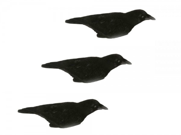 Ersatzkrähen für Krähenmagnet 3 Stück